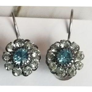 Vintage Liz Palacios Flower Drop Earrings